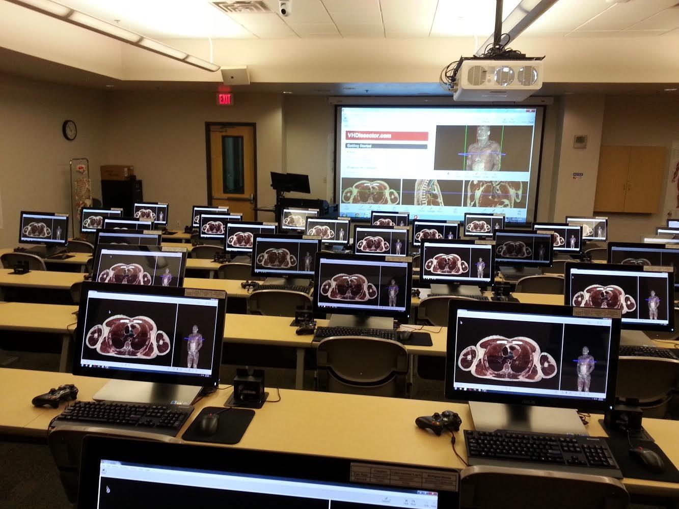 A.T. Still University - 3D Severtson Screen in Anatomy Lab