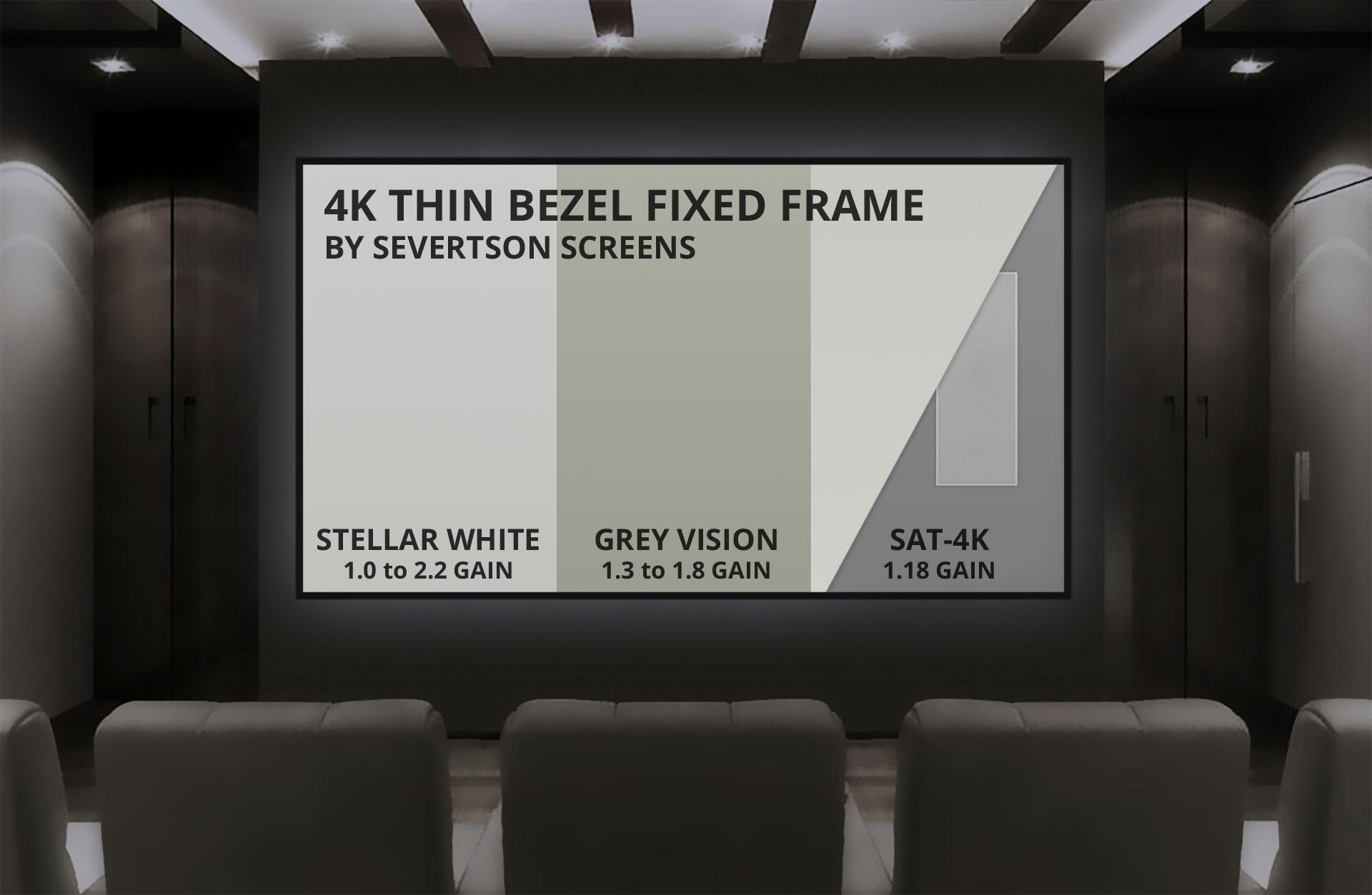 Severtson 4K Thin Bezel Fixed Screen
