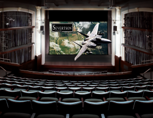 Severtson Screens' Giant Electric motorized cinema screen