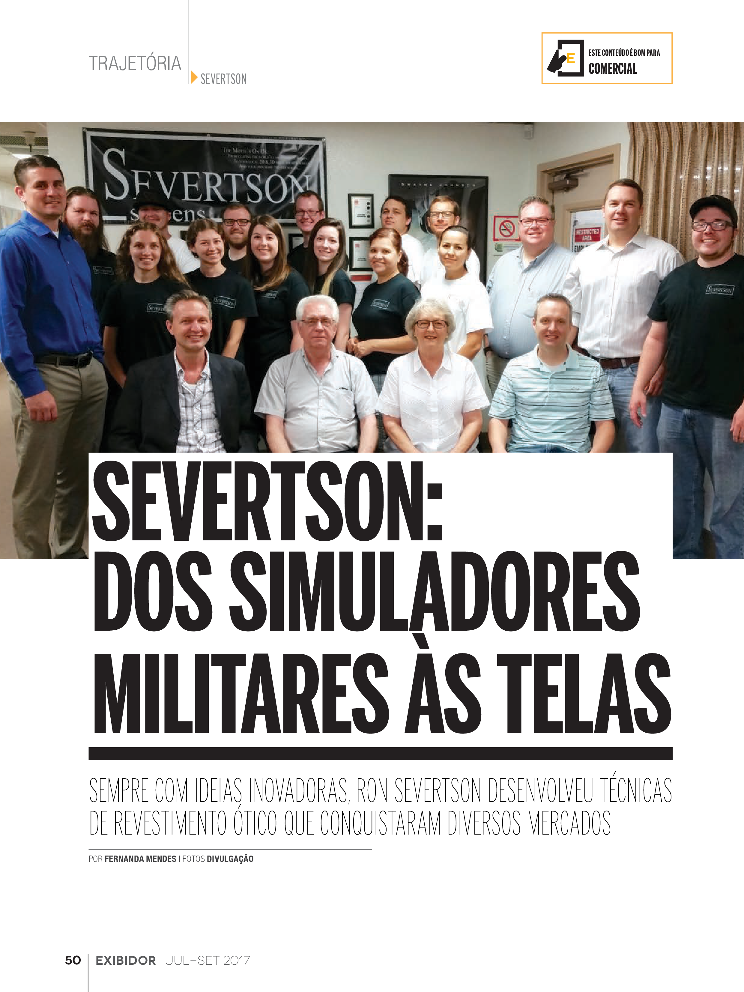 Severtson: Dos Simuladores Militares As Telas