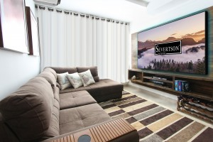 Severtson Screens' 4K Thin Bezel Series fixed frame projection screens