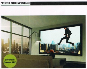 Severtson Screens' new ALR (Ambient Light Rejection) material, featured in Sound & Video Contractor magazine