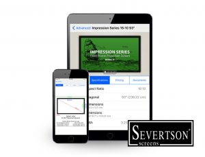 Severtson Screens' new Home Theater app allows dealers to quickly find the right screen for any installation, right from their phone or tablet.
