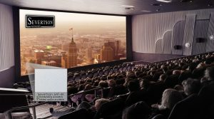 Severtson Screens' SAT-4K for cinema provides top-of-the-line acoustics and stunning, bright visuals.