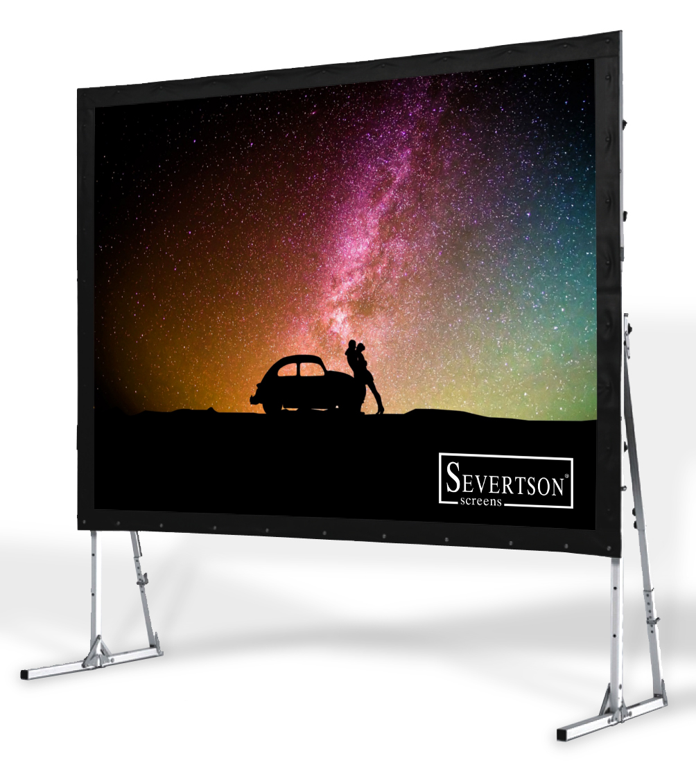 Severtson Screens' Giant QuickFold screens are perfect for any situation where a portable, cinema-sized screen is needed.