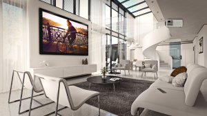 Severtson ALR is designed to reflect ambient light away from the user, while still providing bright, beautiful images from the projector.
